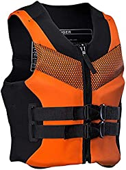 Yeah-hhi Life Jacket Life Vest Unisex Adult Buoyancy Aid, CE EU Certification with Drainage Net, for Water Spo