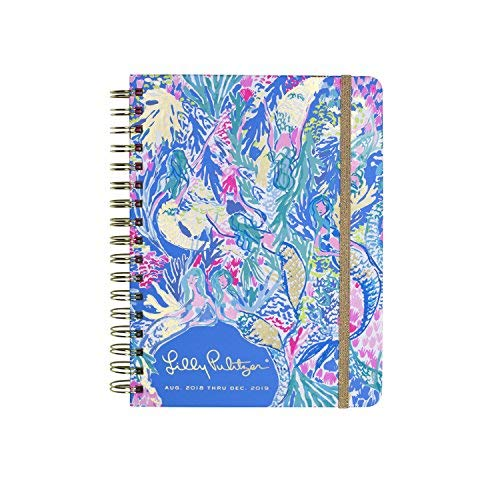 Lilly Pulitzer 17 Month Large Agenda, Personal Planner, 2018-2019 (Mermaid Cove)