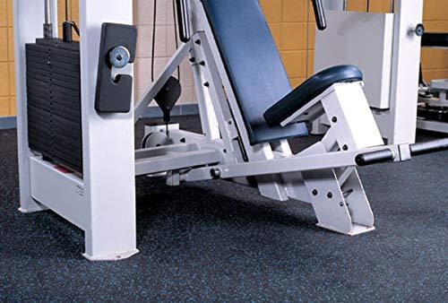 American Floor Mats 3/8インチ x 4フィート x 6フィート プレミアムゴム製ジムフロアマット – バルカナイズラバーロールジムマット パープル   B07GY3T63W