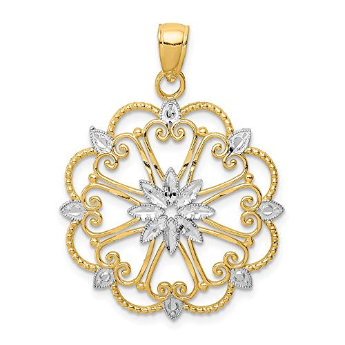 14k Yellow Gold Starburst Pendant Charm Necklace Fancy Fine Jewelry Gifts For Women For Her