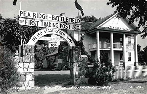 (Entrance to Pea Ridge Battlefield Garfield, Arkansas Original Vintage Postcard)