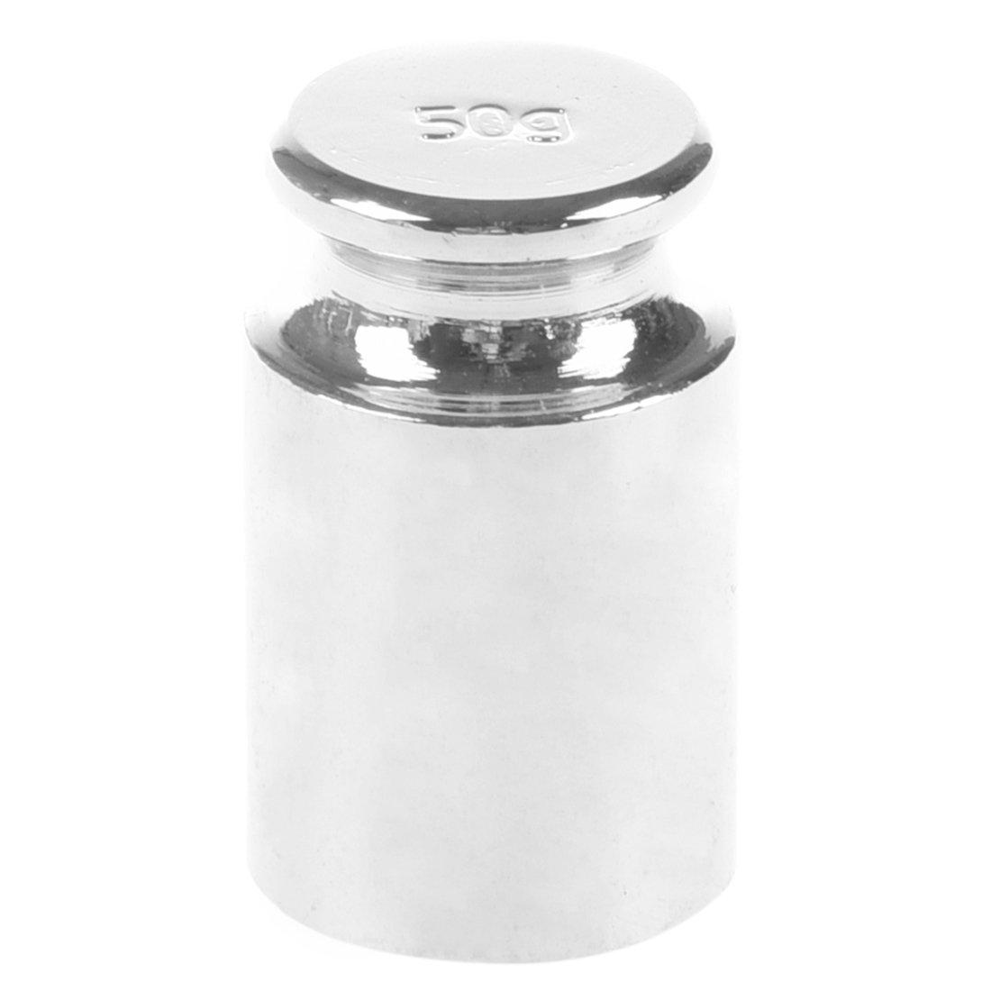 SODIAL(R) 50 g de Poids En Chrome Argent Blanc