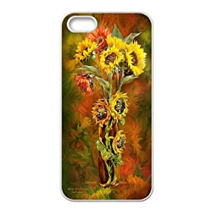 Good mood with sunflower Case Cover Best For Apple Iphone 5 5S Cases KHR-U551067