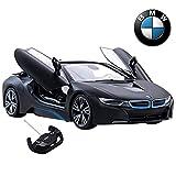 RASTAR RC Car, 1:14 BMW i8 Remote Control Car, BMW i8 Toy Model Car, Open Doors by Hand, MattBlack