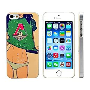 LZX Football Girl 3D Print Plastic Hard Case for iPhone 5S/5