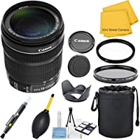 Canon EF-S 18-135mm f/3.5-5.6 IS STM Standard Zoom (White Box Packaging) 33rd Street Lens Bundle for Canon Digital SLR Cameras