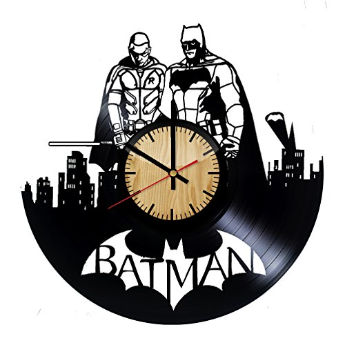 Home & Crafts Batman and Robin Vinyl Wall Clock -Handmade Gift for any Occasion - Unique Birthday, Wedding, Anniversary, Wall Décor Ideas for any Space]()