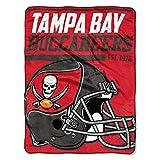NFL Tampa Bay Buccaneers 40 Yard Dash Micro Raschel Throw, 46″ x 60″