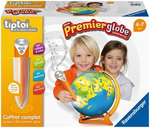 Ravensburger- tiptoi®- Coffret complet lecteur interactif + globe interactif- Mon 1er globe interactif- A partir de 4 ans- 00 034