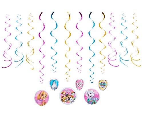 Nickelodeon American Greetings PAW Patrol Pink Hanging Party Decorations