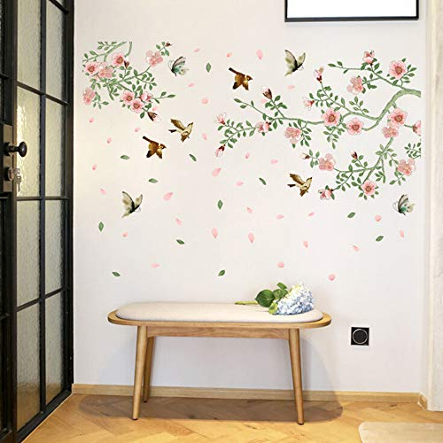 AIUSD Clearance , Flower And Bird Wardrobe Living Room Dining Room Bedroom Background Wall (Wardrobe Farm)