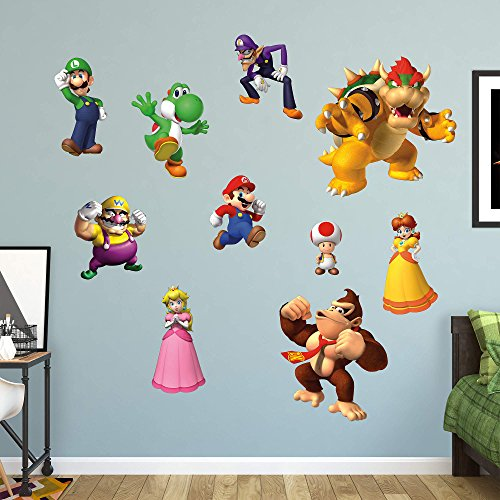 FATHEAD Super Mario: Characters Collection-Giant Officially Licensed Nintendo Removable Wall Decal
