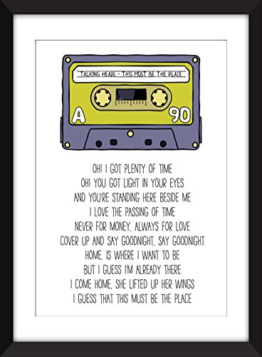 Talking Heads This Must Be The Place Lyrics Unframed Print (Talking Heads There Must Be A Place)