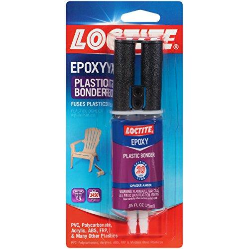 Loctite Epoxy Plastic Bonder 0.85-Fluid Ounce Syringe (1363118 ) (Plastic Adhesive)