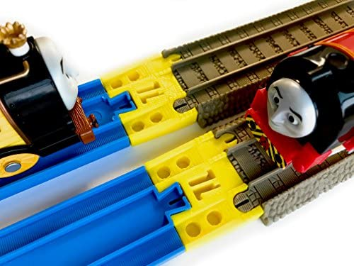 TrainLab Track Adapters CompatiblePlarail to Brown 2009 Trackmaster Tracks 2pcs (Yellow)