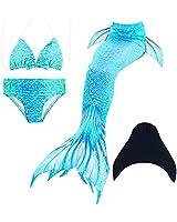 SAIANKE Baby Girls Kids Mermaid Tail Swimsuit...