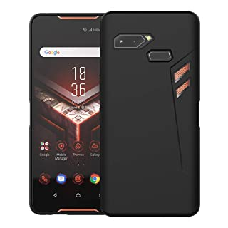 Feitenn ASUS ROG Phone Case, Soft Flexible TPU Case Cover Slim Thin Lightweight Bumper Shockproof Anti-Scratch Protective ROG Phone Case Skin Shell for Asus Rog Phone ZS600KL 6.0 inch - Black