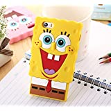 """3D Cute Cartoon Spongebob Soft Silicone Rubber Case Cover For iPhone 6 (4.7"""")-yellow"""