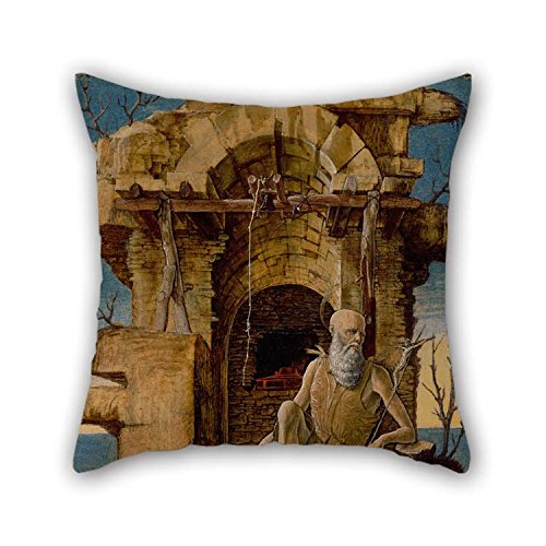 Pintura al óleo de Ercole De ' Roberti-San Jerónimo en el desierto funda X pulgadas/45 cm para el amigo Mon Allí casa...