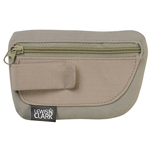 Lewis N. Clark RFID-Blocking Hidden Clip Stash Travel Belt Wallet, Brown, One Size