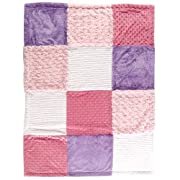 Hudson Baby Multi-Fabric 12-Panel Blanket, Pink (Discontinued by Manufacturer)