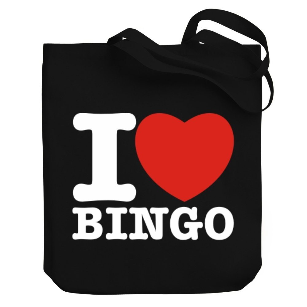 Teeburon I love Bingo Canvas Tote Bag