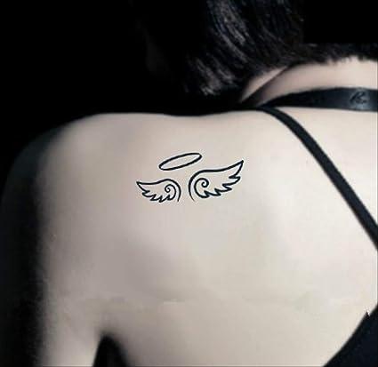 HJBSSR Etiqueta engomada del Tatuaje a Prueba de Agua Ángel ...