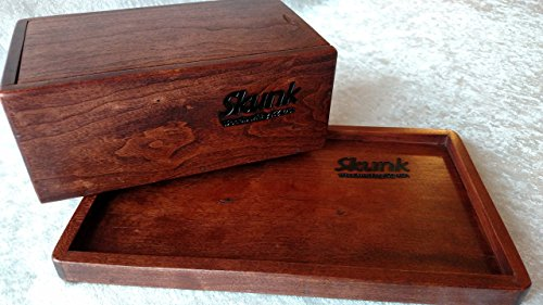 Cheap Stash Box and Rolling Tray Gift Set, Black Cherry