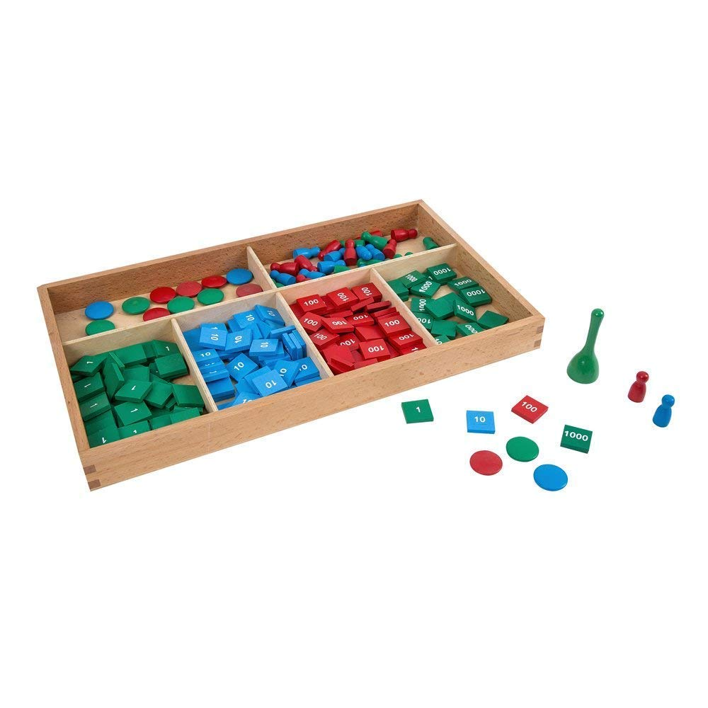 LEADER JOY Montessori Math Materials Stamp Game for Preschool Early Learning Tool