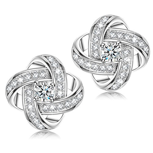 NINASUN Silk of Love s925 Sterling Silver Stud Earrings
