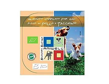 Aniwell – Comida húmedo Perros Bio – tuttacarne pollo y pavo orgánico, 9 bandejas de