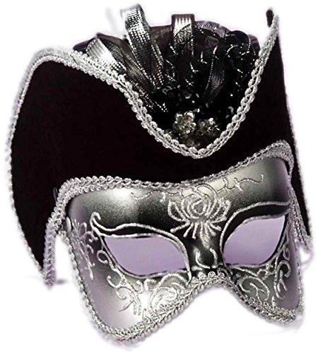 Style Mask Gold Half Black With (Forum Novelties Men's Venetian Style Half Mask, Gold/Black/White, One)
