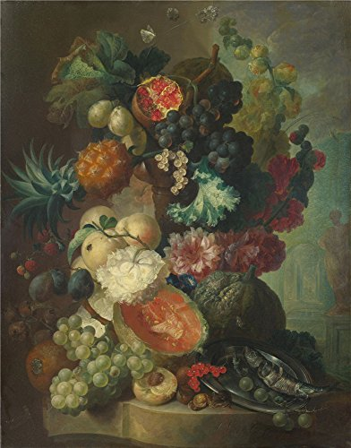 Custom Storm Shadow Costumes (The Perfect Effect Canvas Of Oil Painting 'Jan Van Os Fruit Flowers And A Fish ' ,size: 12 X 15 Inch / 30 X 39 Cm ,this High Definition Art Decorative Prints On Canvas Is Fit For Laundry Room Artwork And Home Decoration And Gifts)