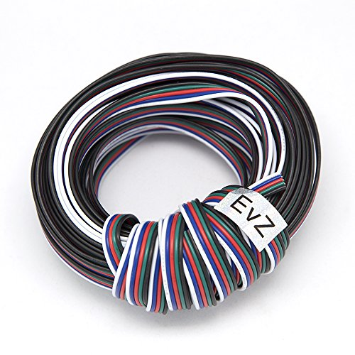 EvZ 5 Color 20m RGBW Extension Cable Line for LED Strip RGBW 5050 Cord 5pin