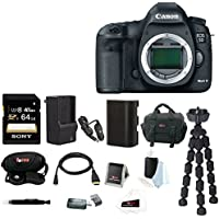 Canon EOS 5D Mark III DSLR Digital Camera (Body) with 64GB SDXC Accessory Bundle