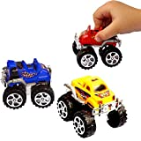 Pullback Cars - Pack of 12 - Party Favor Toy Monster Friction-Powered Vehicles - Bulk - Pull Back Buggy - Birthdays | Holidays | Parties | Fillers | Prizes | Awards...