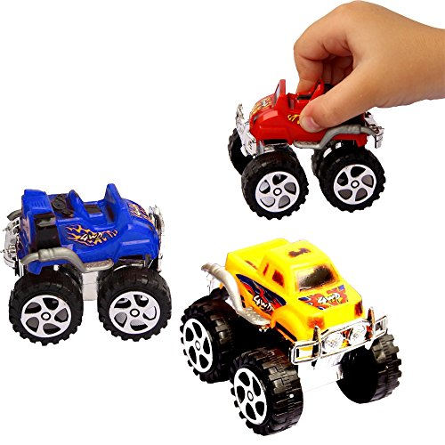 Pullback Cars - Pack of 12 - Party Favor Toy Monster Friction-Powered Vehicles - Bulk - Pull Back Buggy - Birthdays | Holidays | Parties | Fillers | Prizes | Awards...]()