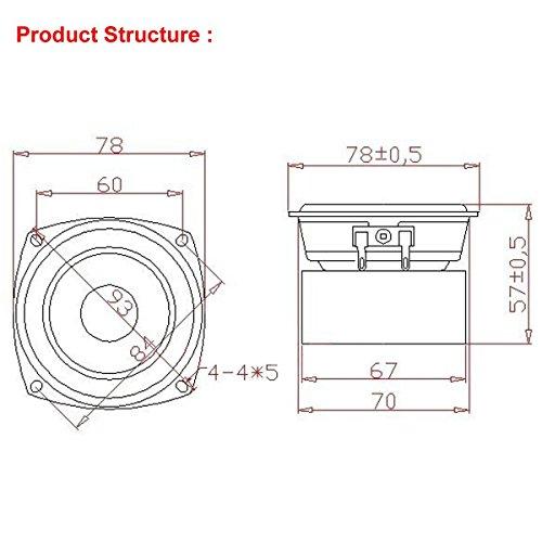 """RioRand® 15W 3"""" inch 4 Ohm Full Range Audio Speaker 2.0/2.1 Home Stereo Woofer Loudspeaker"""