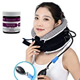 No1 Neck Traction Device + Washable Cover CHISOFT Neck Stretcher - Doctors Recommended for Neck Pain Relief