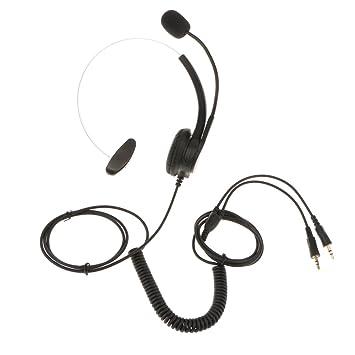 Dovewill - Auriculares con micrófono y micrófono para atención al ...