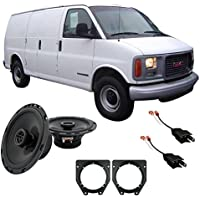 Fits GMC Savana Full Size Van 2001-2002 Front Doors Factory Replacement Harmony HA-R65 Speakers