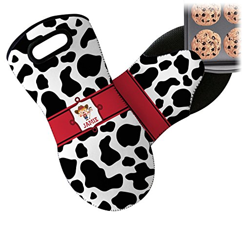Mitt Cowgirl (RNK Shops Cowprint Cowgirl Neoprene Oven Mitt (Personalized))
