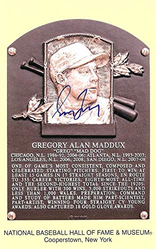 Greg Maddux Autographed HOF Postcard Atlanta Braves Stock #88202 JSA Certified MLB Cut Signatures