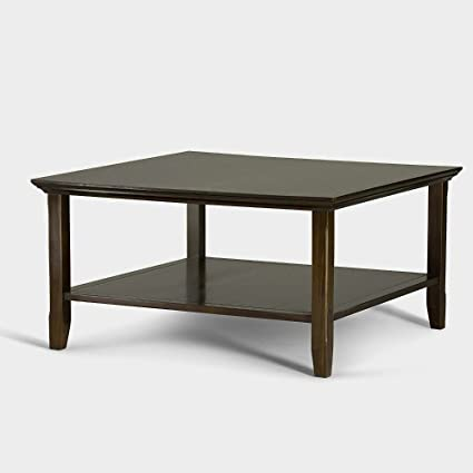 Amazon rustic square coffee table wood with storage for living rustic square coffee table wood with storage for living room modern brown wooden with shelf furniture watchthetrailerfo