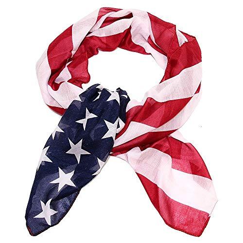 Vintage American Flag Scarf,Unisex Fashion Infinity Shawl,Fashion Soft Silk Chiffon Scarf (American Flag 02, 18090cm) (Scarf Fashion Unisex)