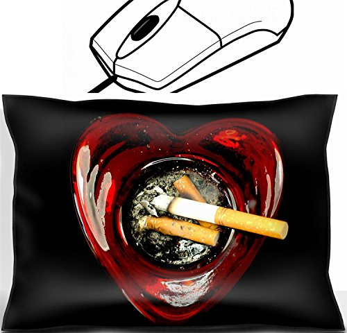 MSD Mouse Wrist Rest Office Decor Wrist Supporter Pillow design 20462555 butts in a Heart Shaped ashtray