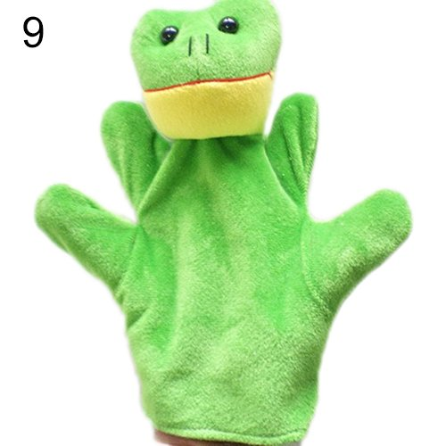 [Delicate Baby Child Zoo Farm Animal Hand Glove Puppet Finger Sack Plush Toy^frog.] (Diy Elephant Halloween Costume)