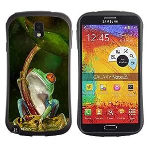 "Pulsar iFace Series Tpu silicona Carcasa Funda Case para Samsung Note 3 , Paraguas Verde Bosque Tropical"""