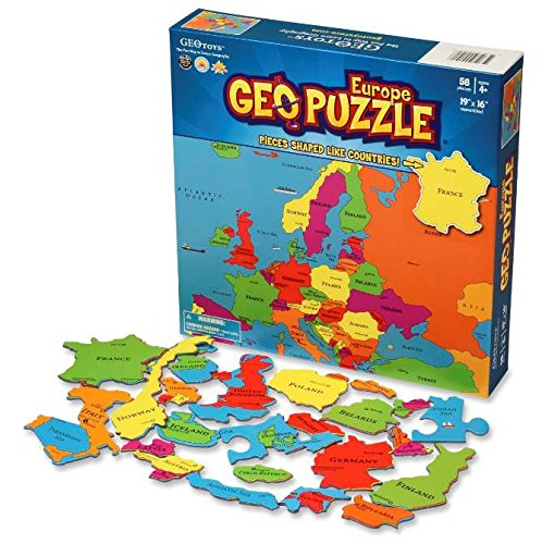 GeoPuzzle Europe Educational Geography Geotoys