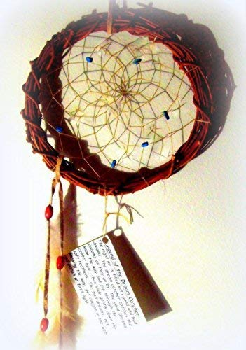 NATIVE MADE DREAMCATCHER Wall hanging, with Turquoise, Dream catcher, Medium size, Native American, Boho, southwest art,